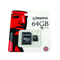 SD CARD 64GB Kingston Mikro SD s adaptérem